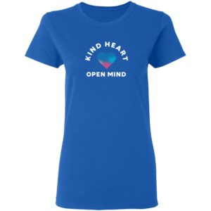 Autism Merch Kind Heart Open Mind Ladies T Shirt