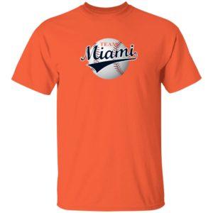 Nick Castellanos Shirts Team Miami Shirt Orange