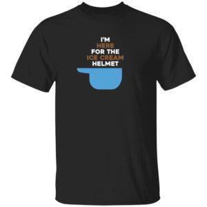 Baseball and Ice Cream Im Here For The Ice Cream Helmet T Shirt Colorado Rockies